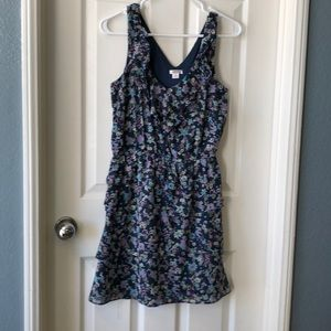 Blue floral flows short dress
